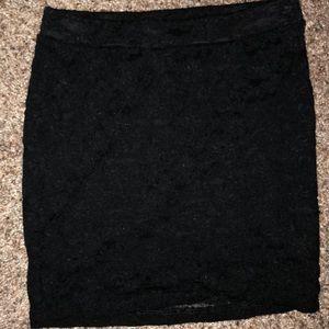 F21 Black Lace Skirt